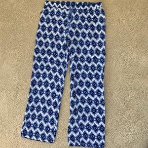 Nordstrom Tribal Blue & White Lounge Pajama Pants